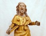 Particolare delle statue lignee dorate Sec. XVII. Foto Sergio Ceccotti