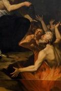 Particolari del quadro San Nicola da Tolentino intercede per le anime del Purgatorio. Foto di Sergio Ceccotti.