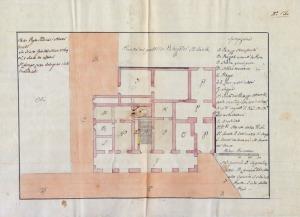 Planimetria del Palazzo Comunale dopo l'incendio del 17-10-1816. A.S.C.P.P.