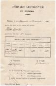 Risultati novembre e dicembre 1895 di Eusebio Petetti al primo Ginnasio del Seminario di Fermo. Prop. Mario Mazzoni.