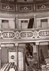 Le condizioni del teatro Bruno Mugellini durante il sopralluogo del 10-2-1982.