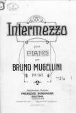 Copertina dell'opera Intermezzo di Bruno Mugellini. ASCPP.