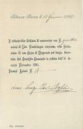 Scheda sottoscrizione azioni della Cassa di Risparmio di Potenza Picena da parte di don Luigi Boschi. ASCPP