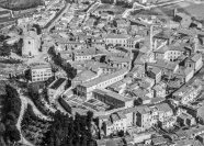 Veduta aerea del Centro Storico di Potenza Picena. In primo piano l'orto del Monastero delle Clarisse. Foto Bruno Grandinetti. Fondo Clarisse.