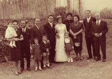 9 OTTOBRE 1961. Attilio Riccobelli partecipa al matrimonio del figlio Giovanni e Delia Mazziero. Foto Bruno Grandinetti. Prop. Giusi Riccobelli.