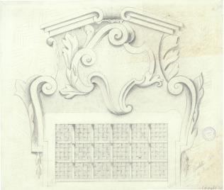 Disegno di Attilio Riccobelli del 1911. Scuola d'Arte Ambrogio della Robbia. ASCPP.