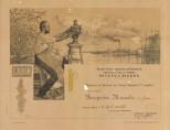 """Diploma della Scuola d'Arte """"Ambrogio della Robbia"""" a Marcello Bompadre. Prop. Eugenio Borroni."""