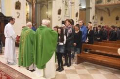 Mons. Franco Croci a Potenza Picena il giorno domenica 11 novembre 2018 durante la messa presso la Collagiata di Santo Stefano