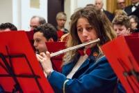"""Concerto della Complesso Bandistico Città di Potenza Picena e della Corale """"S. Stefano"""" di Potenza Picena."""