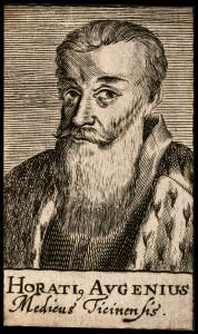 V0000248 Horatius Augenius. Line engraving, 1688.